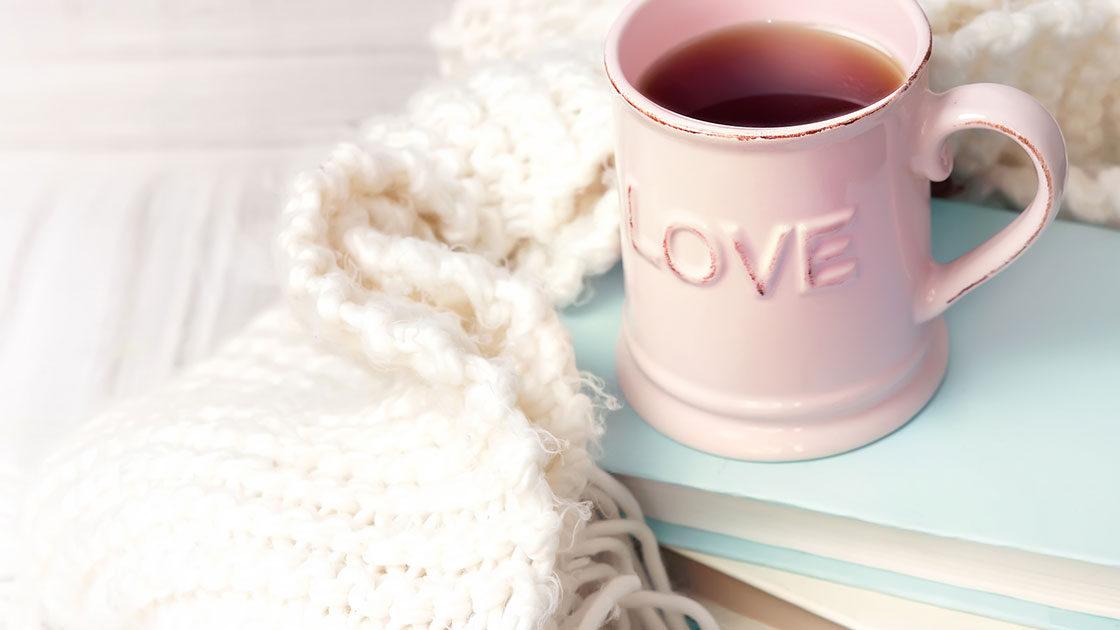 Valentines Day Romance Book Stack
